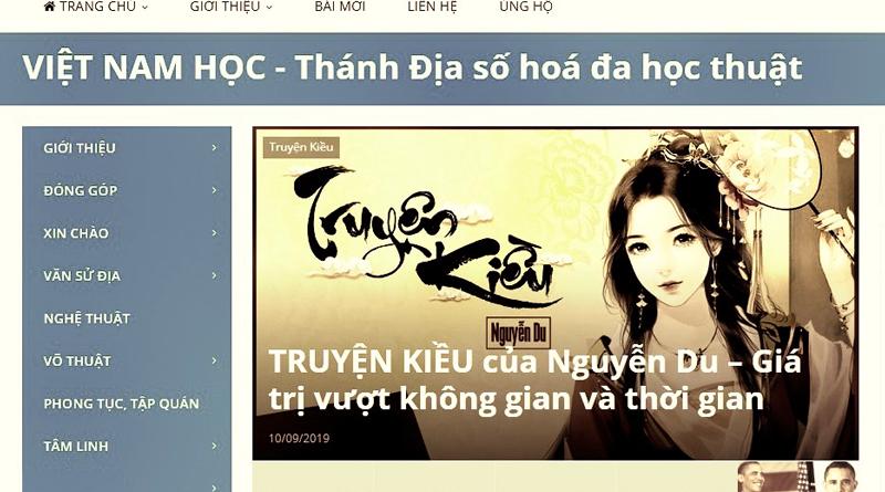 Giao diện web vietnamhoc.com