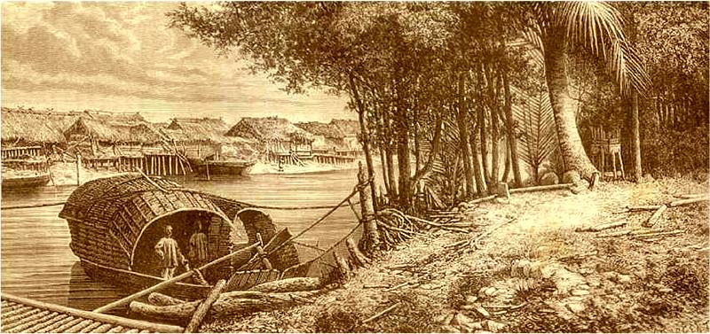 Du thuyền cập bến sông - thanhdiavietnamhoc.com