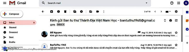 Thánh địa Việt Nam học - email của độc giả l Nguyễn