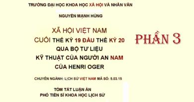 Luận án Phó tiến si của Nguyễn Mạnh Hùng - Phần 3