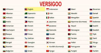 VERSIGOO - 1001 phiên bản ngôn ngữ - thanhdiavietnamhoc.com